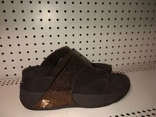 FitFlop Electra Womens Classic Thong Sandals Slides Flops Size 10 Brown