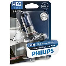 Philips diamond visión 5000K HB3 Coche Faro Bulbos (paquete único)