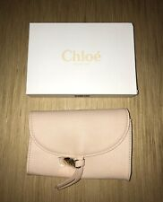 NIB Chloe Blush Pink Small Pouch Clutch Makeup Bag