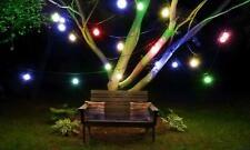 10 LED Solar Powered Retro Bulb String Lights Garden Outdoor Hanging Fairy
