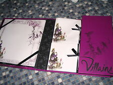 DISNEY STORE VILLAINS MALEFICENT STATIONERY SET ADDRESS BOOK BRAND NEW VERY RARE