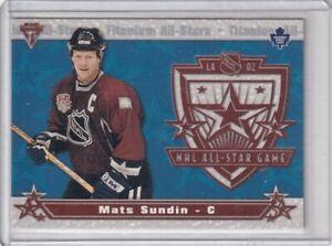 2001-02 PRIVATE STOCK TITANIUM NHL ALL-STAR GAME INSERT MAPLE LEAFS MATS SUNDIN