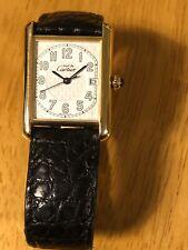 Cartier deve de Cartier Serbatoio quarzo placcato oro su argento Sterling caso.