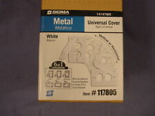 Sigma Electric 14147Wh 117805 Box of 12 White Universal Cover