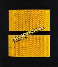 2 Stück Reflektorfolie gelb 10 x 5 cm  Reflexfolie 3M Reflektorband