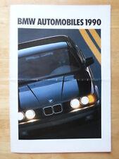 BMW Range 1989 1990 USA Mkt brochure broadsheet 3 5 7 Series M3 M5 M635 CSi M6