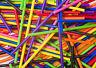 X100 89mm x 4mm Colore Arcobaleno Plastica Lecca Lecca Pop Bastoncini Creazioni