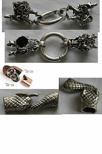 Premium Clasp Dragon, Snake, Skull. Perfect for Jewellery, Leather, Nappa...- HQ