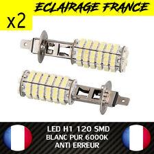 2 AMPOULE LAMPE H1 55W 6000K 12V 120 LED SMD FEU PHARE XENON SUPER WHITE