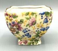 Vintage Royal Winton Grimwades Chintz Cheadle Open Ascot Straight Sugar Bowl