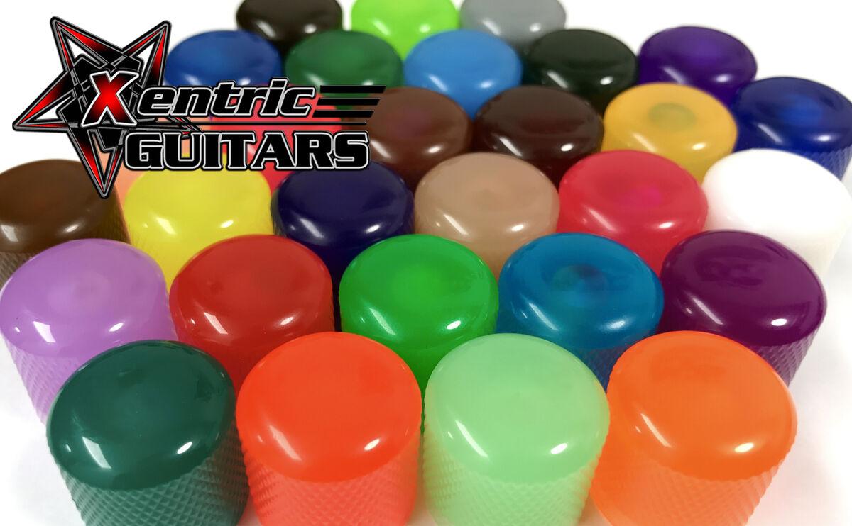 IGNITE Fluorescent Brown 6mm Dome Knob SET OF 4 Xentric Guitars