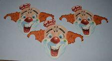 3 1940's-50's Standard Oil Crown Clown Masks Paper Premiums