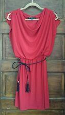 Jones Wear Dress sz 4 Red Sleeveless Mid Length