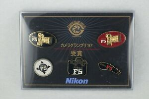 【Unused】NIKON F5 Camera Grand Prix 1997 Award Commemorative Pin Badge Set JAPAN