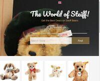 STEIFF TEDDY BEARS Website Business Make $297.00 A SALE INSTANT TRAFFIC SYSTEM