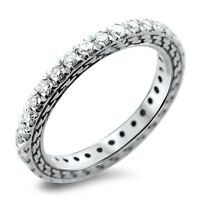0.50ct Round Brilliant Cut Diamond Full Eternity Wedding Ring in 18K White Gold