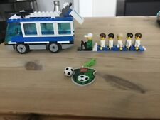 Lego 3405 blue bus. Football Coach used. 6 mini figures. free postage in the UK
