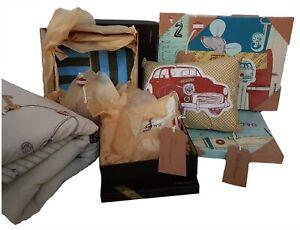 Mamas And Papas Boys Baby Boy Nursery Quilt Wall Art Pillowcase Blanket Set £210