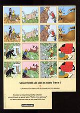 JEUX DE MÉMO    PLANCHE 3    TINTIN ET MILOU MOULINSART 2004  HERGE