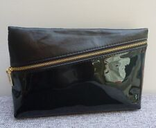 Ysl Beauty Black Faux Patent Leather Makeup Cosmetics Bag / Pouch, Brand New!