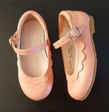 Pink NEXT Girls Scallop Toddler Girls Mary Jane Party Shoes UK 4 Infant / EUR 20