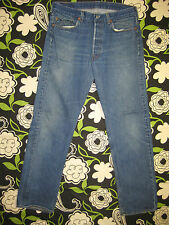 6173 Used blue jeans 501 36x36 frayed holes  34x32.5 made in the U.S.A.