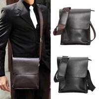 Hommes Sac à bandoulière en cuir véritable Business sac bandoulière brun noir G