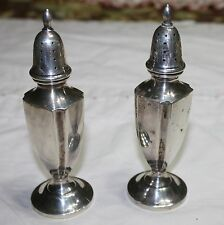 Antique Sterling Silver Fisher Salt & Pepper Shakers #419 Not weighted 84 Gram