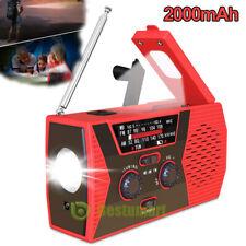 Upgraded Emergency Solar Hand Crank Radio NOAA Weather AM/FM LED Flashlight SOS