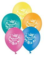 "Welcome Home - 12"" Printed Assorted Latex Balloons pack of 5  by Party Decor"