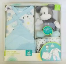 NIB Disney Store Mickey Mouse Baby Gift Set Romper - Blue Size 0-3 months d2197202d