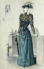Robe Haute Couture Legrand Fahsion Mode Paris Elegant Gourbaud Lithographie 19e