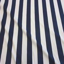 Stoff Meterware Baumwolle Blockstreifen marine weiß gestreift Vorhang Kanada Neu