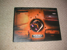 Mesa Boogie Amps 2003 catalogue Guitare collector Custom Studio Display Salle