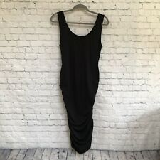 NWT Isabella Oliver Maternity Black Ruched Tank Dress- Size 4