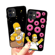 Funny Simpson Apple iPhone Black Silicone Cases Cover Fashion iPhone 5 - 11 Pro