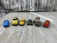 Lot Of 6 Volkswagon Diecast Majorette,Tootsie Toy,road Master Impy,bug Bomb + 57