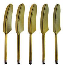 5x Gold Universal Handy Tablet Pen Stylus Touch Display Einhabe Stift Feder