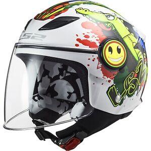 LS2 Funny Croco OF602 Children Motorcycle Helmet Jet with Visor Kinderhelm