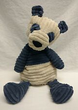 Jelly Cat London Cordy Roy Panda Bear Slate Blue Cream Stuffed Animal RARE EUC