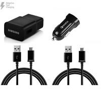 Samsung Fast Charger for Galaxy S6/S7 Edge/Note5/4(Wall+Car Adapter+2 USB 5 Ft)