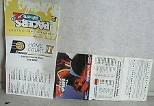LOT OF TWO 1992-93 &1995-96 INDIANA PACERS BASKETBALL POCKET SCHEDULES NBA