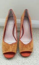 Next Size 7 Shoes block heel tan open toed forever comfort new no box