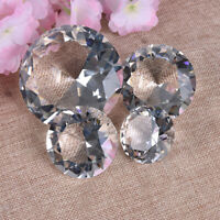 Crystal Clear Paperweight Faceted Cut Glass Giant Diamond Jewelry Decor Craft PY