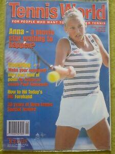 TENNIS WORLD / 1998 APRIL / ANNA - A MOVIE STAR WAITING TO HAPPEN?
