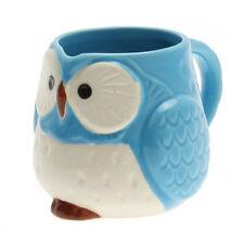 "1 PC. Japanese 3.25""H Turquoise FUKURO Owl-M Tea Coffee Cup Mug /Made in Japan"