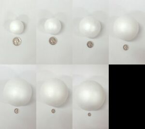 Smooth Foam Polystyrene Balls for Crafts and School Projects