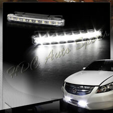 High Power Bright White 8 LED Chrome Housing Daytime Running Lights Fog Lamps