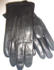 Men's Isotoner Spandex Fight Club Style Genuine Leather Gloves, Black, M/L