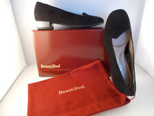 BeautiFeel Harlow Black Suede Leather Slip-ons Women's Size 8-8.5 US New In Box